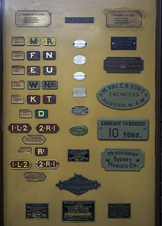 Old Tramway Plates - Sydney Tramway Museum | Various example… | Flickr