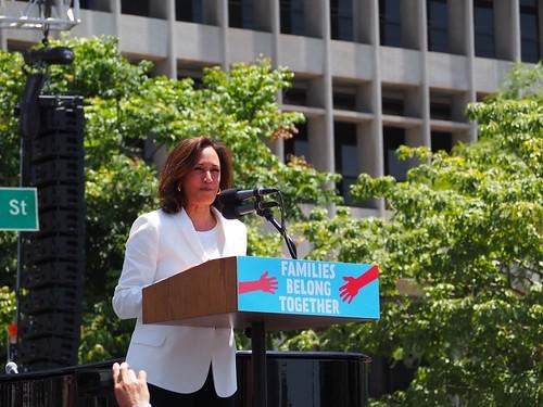 U.S. Sen. Kamala Harris speaks at L.A.'s Families Belong Together March   by lukeharold