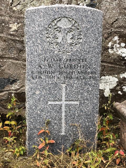 War Graves - Methlick Aberdeenshire Scotland - 18/7/2018