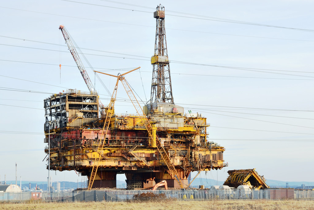Brent Delta | The topside of the Brent Delta oil platform un