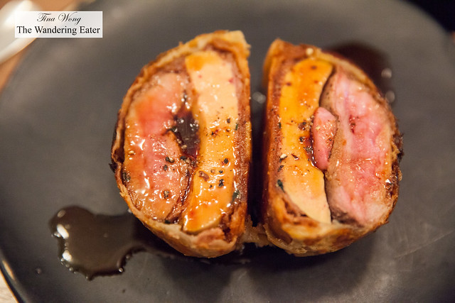 Duck breast and foie gras pithivier with dates