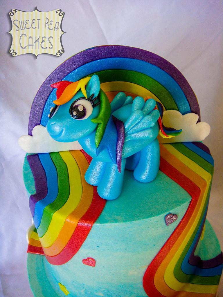 Sensational Rainbow Dash Birthday Cake Closer Look At Rainbow Dash Flickr Personalised Birthday Cards Veneteletsinfo