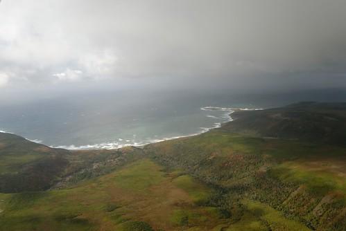 ocean sea sky mer france saint clouds island view pierre dom north shoreline côte aerial atlantic east com nuages airborne et far vue 2012 aérienne île atlantique océan miquelon