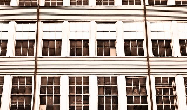 Mill Facade--Windows