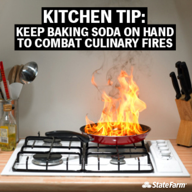 Kitchen Fire Safety Tip Baking Soda Keep A Box Of Baking