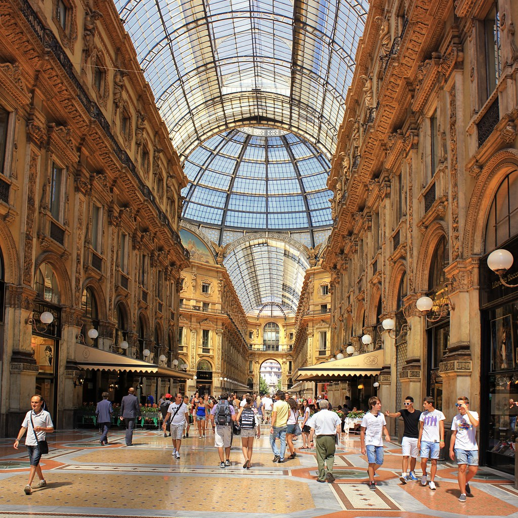 Most popular covered shopping street in milan all for B b italia online