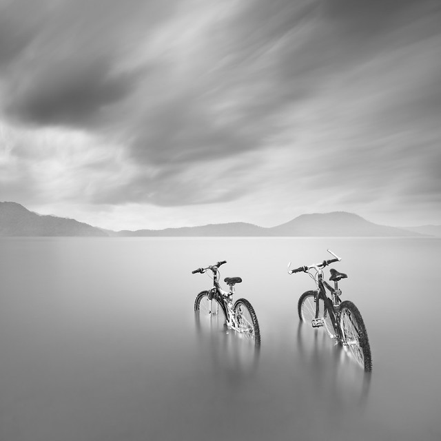 Two Bicycles at the Lake