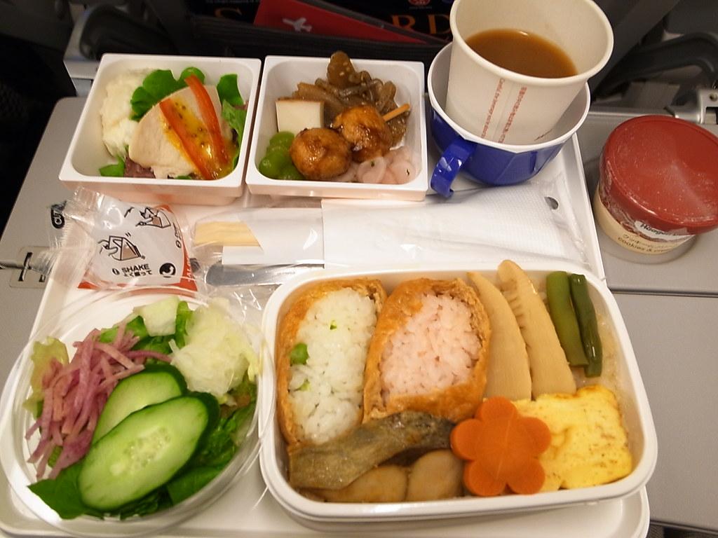 Berikut foto-foto menu makanan pesawat di seluruh dunia.
