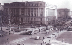 Streetcars in front of The District Building