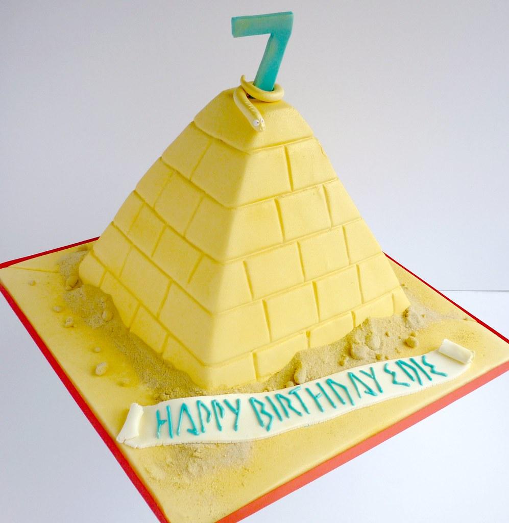 Wondrous Egyptian Pyramid Birthday Cake Liana Stevens Flickr Funny Birthday Cards Online Necthendildamsfinfo