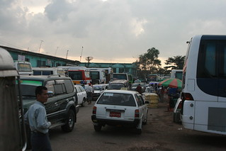 Myanmar, Yangon -  Feb 2013 - the disorganized and terribly located Highway Bus Station past the airport.   照片 650