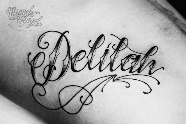 Lettering name custom tattoo