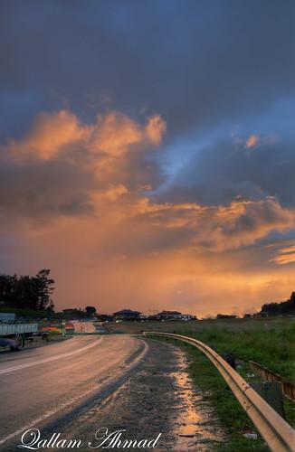road sunset cloud canon landscape tokina malaysia borneo sabah f28 kundasang 500d 1116