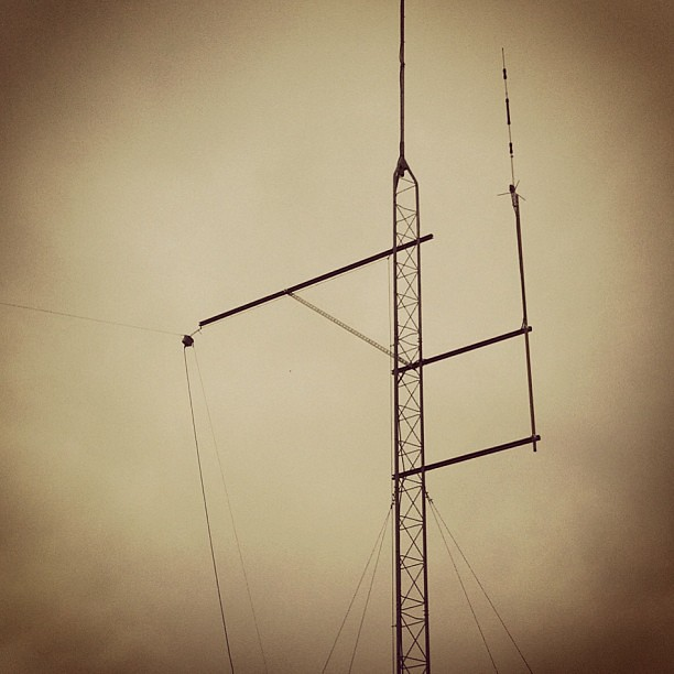 Finally got around to permanently mounting a new 169m scratch-built OCFD antenna last weekend.
