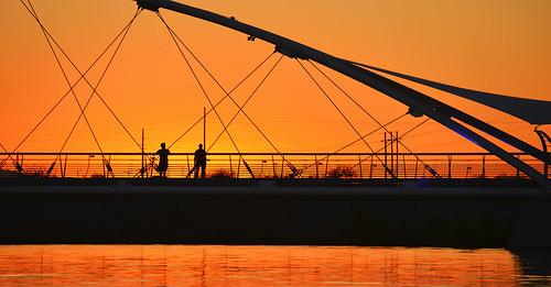 sunset arizona lake water river town salt az townlake saltriver tempe