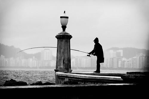Dia de chuva também é dia de pesca