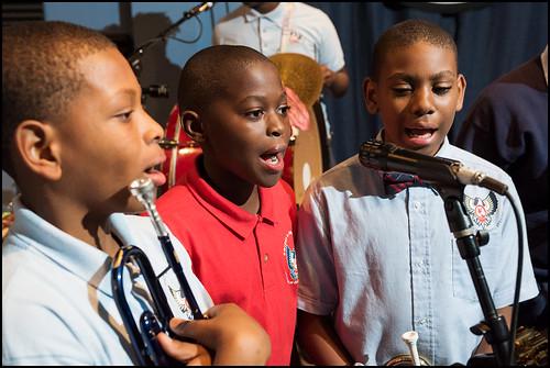 Eisenhower Academy Middle School Brass at Cuttin' Class on September 8, 2016. Photo by Ryan Hodgson-Rigsbee rhrphoto.com