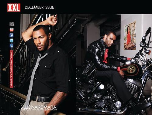 Omari Hardwick Ad in XXLmagazine for Billionaire Mafia by Lana Fuchs   by MMM Legacy