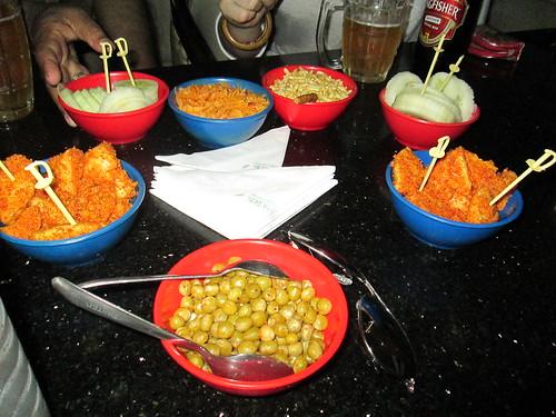 bar snacks in the basement bar