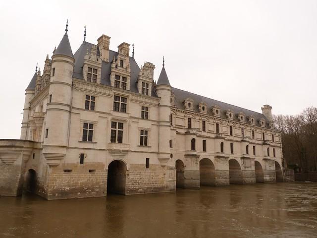 Castillo de Chenonceau en el Valle del Loira (Francia)