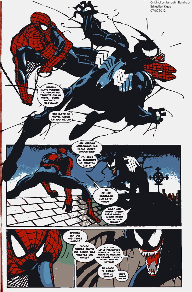 Venom vs Spider-Man Art by: John Romita Jr  | THE AMAZING