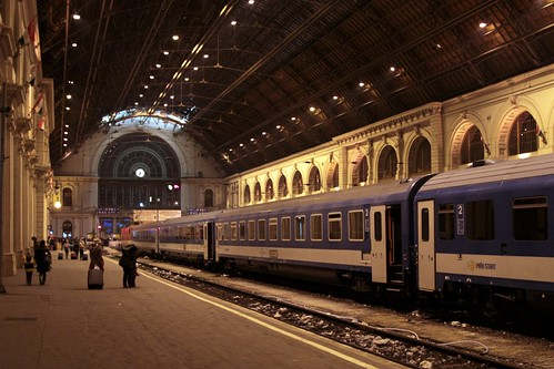 Arrival into Budapest by rail