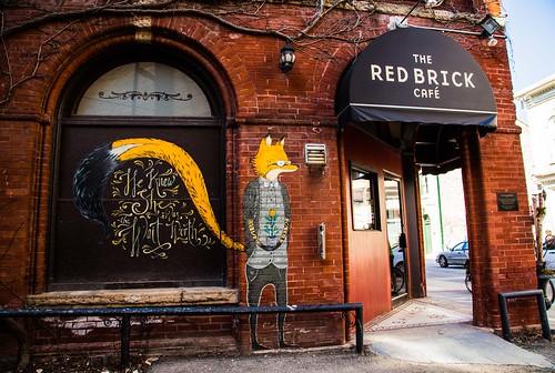 coffee guelph wallart redbrickcafe