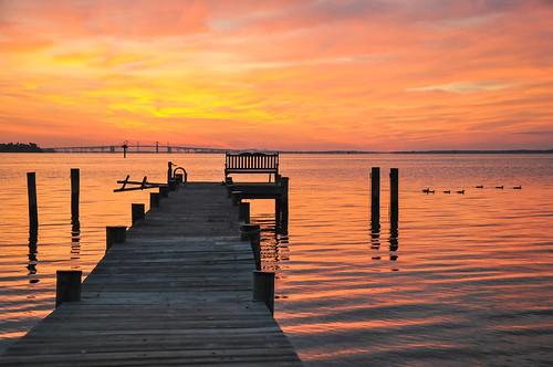Photo of dock extending into Chesapeake Bay