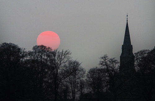 sunset church northernireland fermanagh lisnaskea