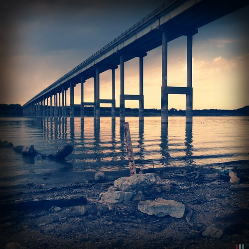 bridge sunset reflection vanishingpoint sunrisesunset leadinglines lampasasriver iphoneography hipstamatic tejaslens purehipstamatic blankofreedom13film mxgxpxchallenge lampassasriverbridge
