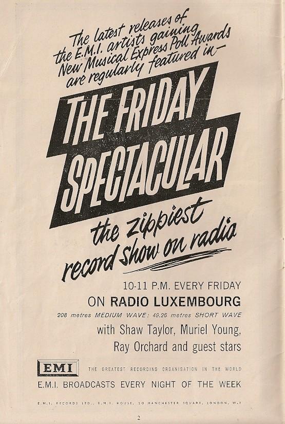 Bildresultat för Friday Spectacular Radio Luxembourg