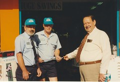 1993 Nov24 Ames Hardware opening Kevin Howard Ed Manning Dr Bruce Eastick