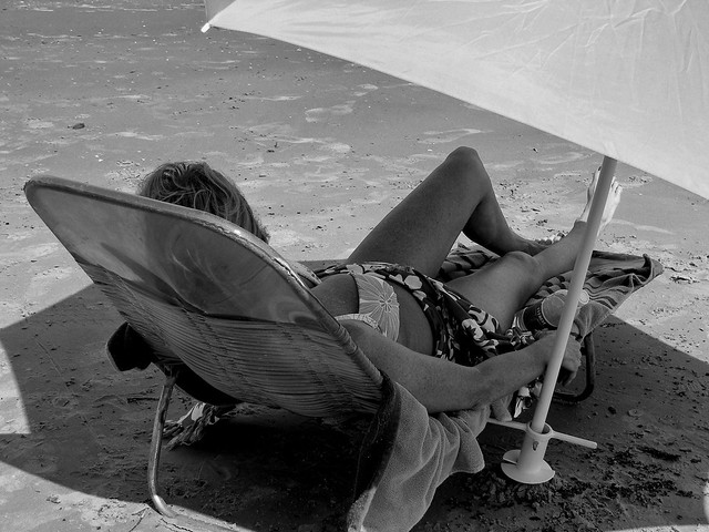 A Day on the Beach (Black & White)