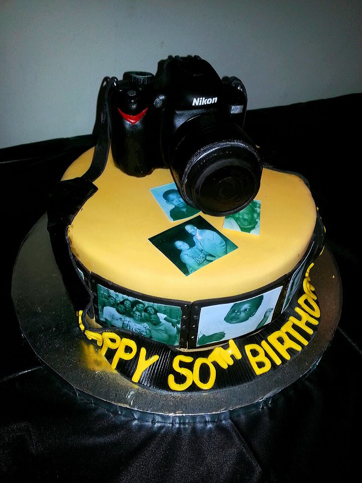 Phenomenal 50Th Birthday Camera Cake Nikon Cake On Top Of Cake With P Flickr Personalised Birthday Cards Sponlily Jamesorg