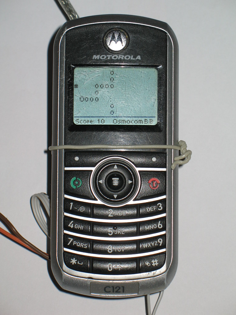 Motorola C121 OsmocomBB Snake   The game Snake implemented a