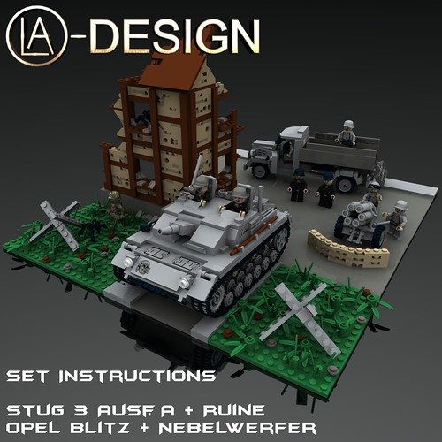 LEGO Custom StuG 3 Opel Blitz Nebelwerfer 41 ART