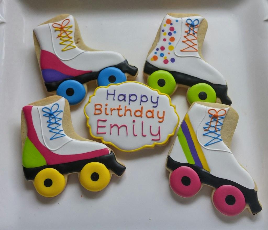 Roller Skating party cookies | Custom Cookies by Jill | Flickr