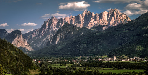 Admont and the Hochtor Mountain Range | by Bernd Thaller