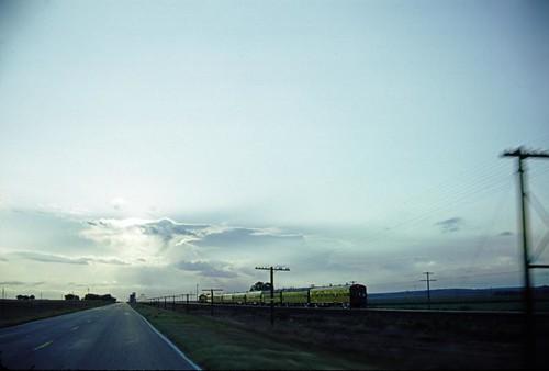 sunset 30 us nebraska unionpacific 1985 businesstrain pacingshot