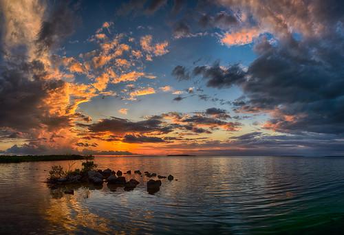 cloud florida keylargo landscape ocean panorama reflection usa water weather unitedstates gulf gulfofmexico keys sunset pwpartlycloudy night edrosackcom