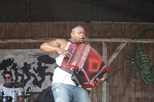 Dwayne Dopsie and the Zydeco Hellraisers.  Photo by Bill Sasser.