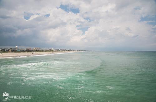 ocean life vacation sky beach home water beautiful clouds pier nc sand nikon northcarolina clear polarizer emeraldisle cpl circularpolarizer beachhouses d600 crystalcoast 2485