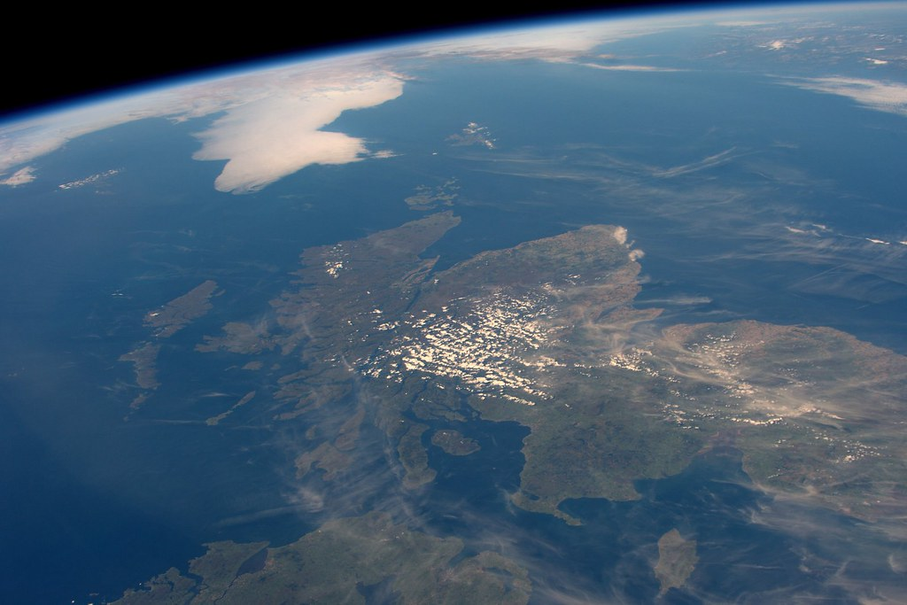Nearly Cloudless Scotland, As Seen From the ISS