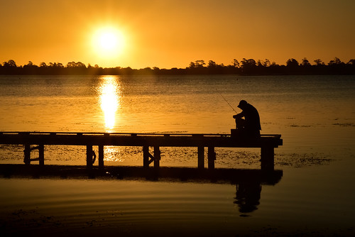 phunnyfotos australia victoria vic silhouette man fisherman suinset light lake lakewendouree ballarat centralvictoria lateafternoonlight evening jetty pier water hobby recreation nikon d750 nikond750 sun summer heat weather fishing fishingrod