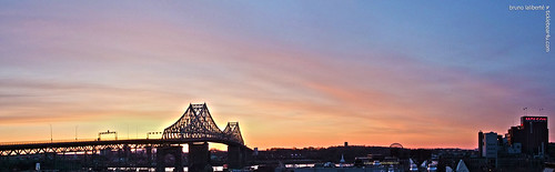 city bridge panorama metal sunrise montreal explore molson jacquescartierbridge 2013 brunolaliberté