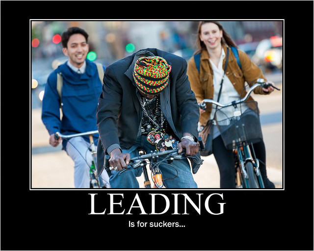 Leading - is for suckers... - Copenhagen Bikehaven by Mellbin