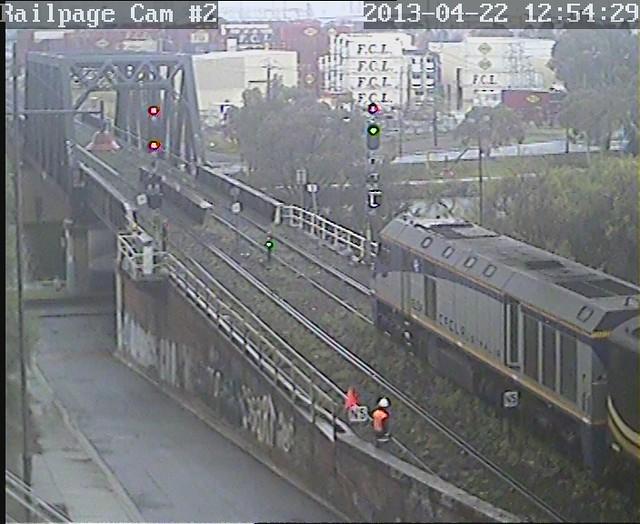 EL54-S312-EL60 Up El Zorro SG Grain to Appleton Dock for discharge 22-4-2013 by Railpage Bunbury Street