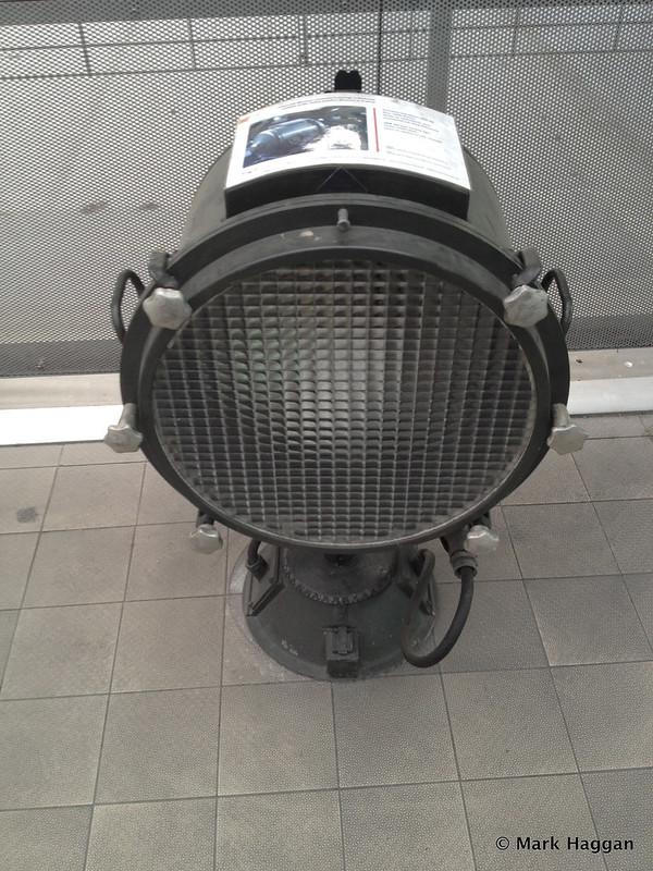 A searchlight on display at the Polish Aviation Museum, Krakow