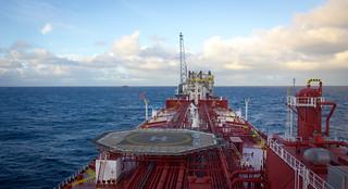 Oil tanker approaching FPSO | by Jon Olav