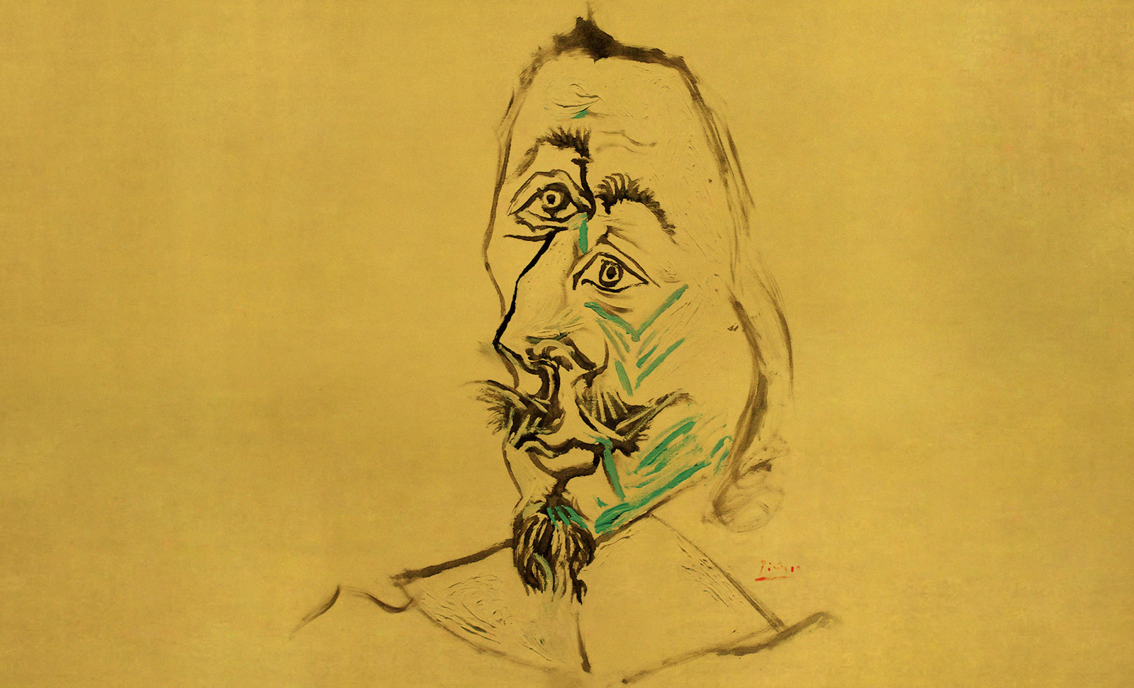 El Cardenal, representación de Philippe de Champaigne (1642), encuadres de Pablo Picasso (1969).